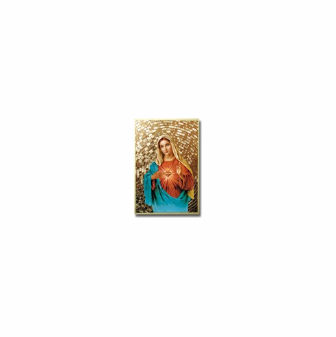 """4""""x 6"""" MOSAIC PLAQUE - IMMACULATE HEART"""