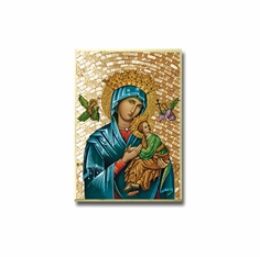 "4""x 6"" MOSAIC PLAQUE - OUR LADY OF PERPETUAL HELP"