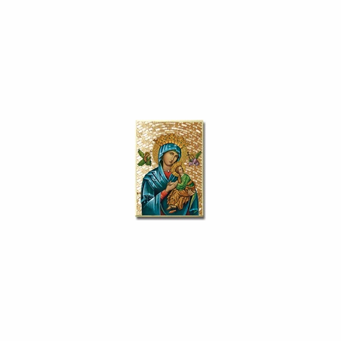 """4""""x 6"""" MOSAIC PLAQUE - OUR LADY OF PERPETUAL HELP"""