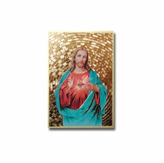 "4"" X 6"" MOSAIC PLAQUE - SACRED HEART"