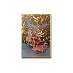 "4"" X 6"" MOSAIC PLAQUE - ST. MICHAEL"