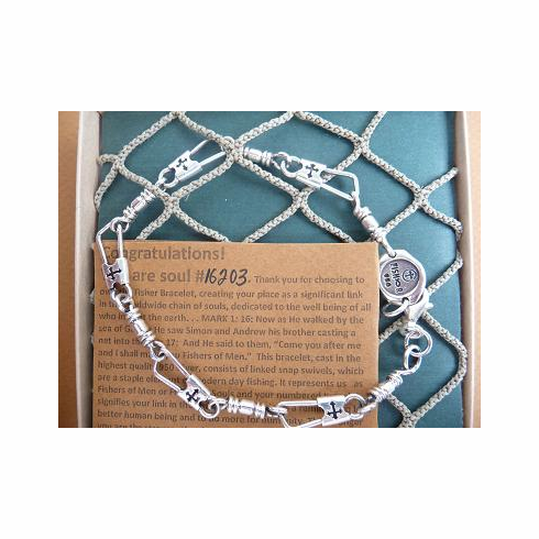 Acts Bracelet Fisherman S 95 Sterling Silver With Cut Out Cross