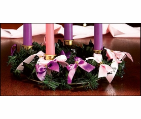 ADVENT WREATH WITH RIBBONS