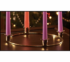 "BRASS ADVENT WREATH (11"" DIAMETER)"