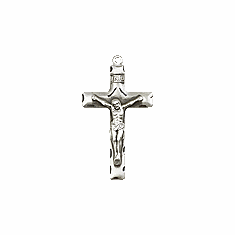 CRUCIFIX  - STERLING SILVER (LG)