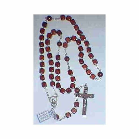 CUBULAR WOOD ROSARY