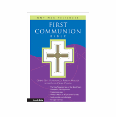 FIRST COMMUNION NEW TESTAMENT--GOOD NEWS TRANSLATION-WHITE COVER WITH WHITE RIBBON MARKER