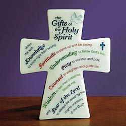 GIFTS OF THE HOLY SPIRIT - CROSS PLAQUE
