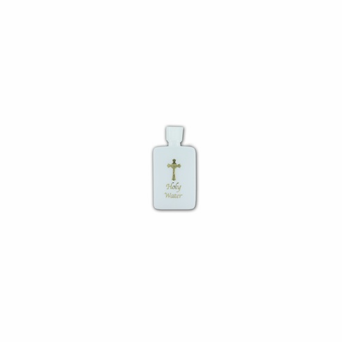 GOLD STAMPED HOLY WATER BOTTLE - 4 OZ.