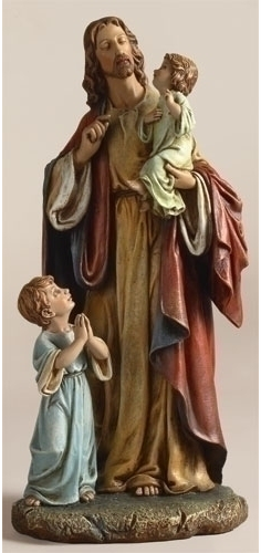 JESUS WITH CHILDREN - 10""