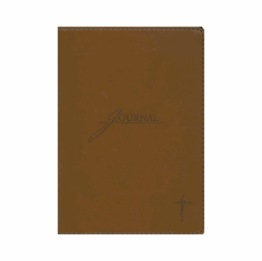 JOURNAL  BROWN WITH CROSS