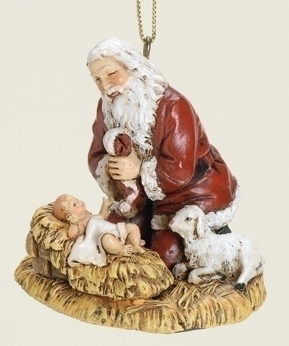 KNEELING SANTA ORNAMENT  **SOLD OUT FOR THE SEASON**