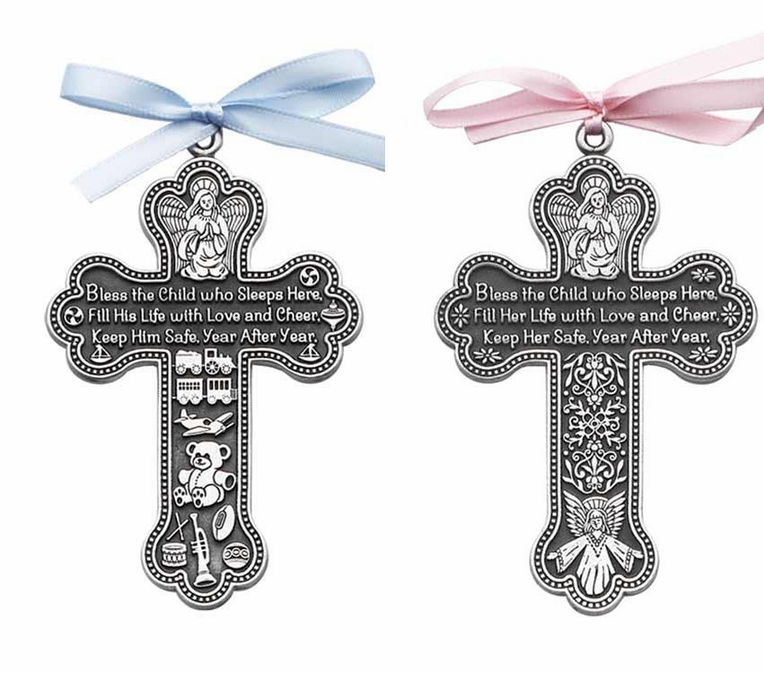 "PEWTER ""BLESS THE CHILD"" CROSS"