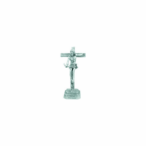 SMALL HOLY SPIRIT PEWTER CRUCIFIX