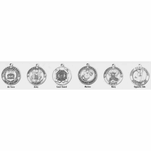 ST. CHRISTOPHER / MILITARY - STERLING SILVER