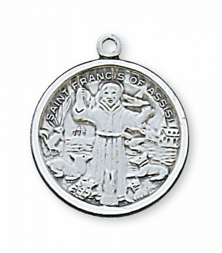 ST. FRANCIS OF ASSISI - STERLING SILVER