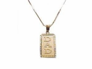 14k Gold Dad Pendant Men's Gold Jewelry