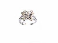 Butterfly Sterling Silver Toe Ring