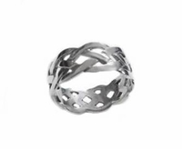 Plus Size Ring Celtic Braid Sterling Silver to Size 13