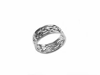 Celtic Sterling Silver Plus Size Ring Cut Out