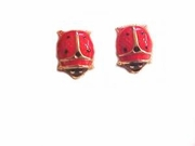 Ladybugs 14K Gold Earrings