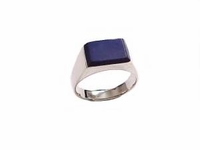 Men's Blue Lapis Sterling Silver Plus Size Ring to Size 17