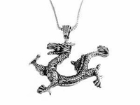 Men�s Stainless Steel Dragon Necklace Style 1