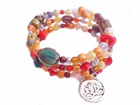 Plus Size Bracelet Colorful Spiral with Charm Style 6