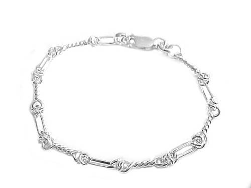 Plus size bracelet sterling silver spiral link to 8 for Plus size jewelry bracelets