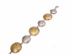 Plus Size Bracelet Two Tone Circles Fashion Jewelry