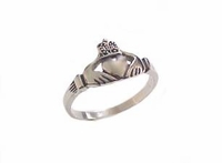 Plus Size Ring Claddagh Stainless Steel Ring 5 to Size 18