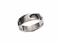 Footprints Sterling Silver RingSize 6-9