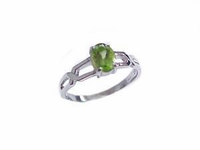 Plus Size Ring Peridot Sterling Silver Ring Large Sizes