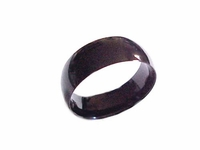 Plus Size Ring Stainless Steel Black Band Size 9-18
