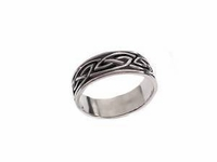 Plus Size Ring Sterling Silver Celtic Braid Style 2