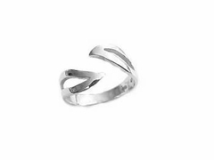Plus Size Ring Sterling Silver Open Bypass