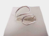 Plus Size Ring Sterling Silver Open Loop