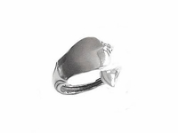 Plus Size Ring Sterling Silver Plain Spoon Ring