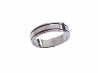 Plus Size Ring Sterling Silver Polished Band 6 to Size 15