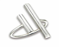 Plus Size Ring Sterling Silver Thick Open Bars
