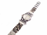 Plus Size Watch Animal Print Silver Tone 8 Inch