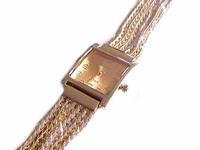 Plus Size Watch Gold Dressy Band 8 Inch