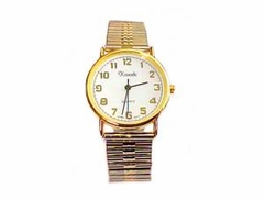 Plus Size Watch-Men's Stretch Two Tone Easy Read-Style 74