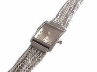 Plus Size Watch Silver Dressy Band 8 Inch