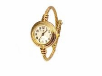 Plus Size Watch Women's Cable Wrap Gold Tone