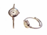 Plus Size Watch Women's Cable Wrap Silver Tone