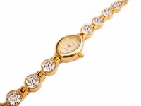 Plus Size Watch Women's Gold Tone Fancy Crystal