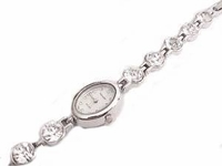 Plus Size Watch Women's Silver Tone Fancy Crystal