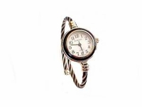 Plus Size Watch Womens Wrap Black and Silver