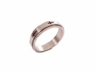 Plus Size Worry Ring Spinner Ring Crosses